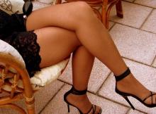 Jambes sexy en collants - Femme libertine