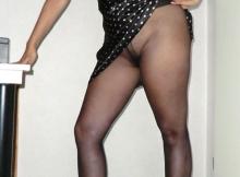 Soulève sa robe - collants sexy