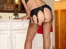 Cougar de Nice : lingerie sexe dans la cuisine
