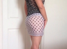 Femme chaude en jupe