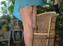 Montre ses bas nylon - Cougar de Nice