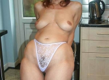 String transparent - Beurette mature
