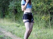Bas-nylon - Policière sexy