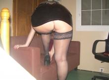 Bas nylon sans culotte - Femme sexy