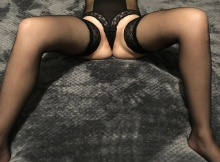Lingerie sexy noire - Rencontre sexy Strasbourg