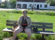 Femme ronde s'exhibe en public (voyeur)