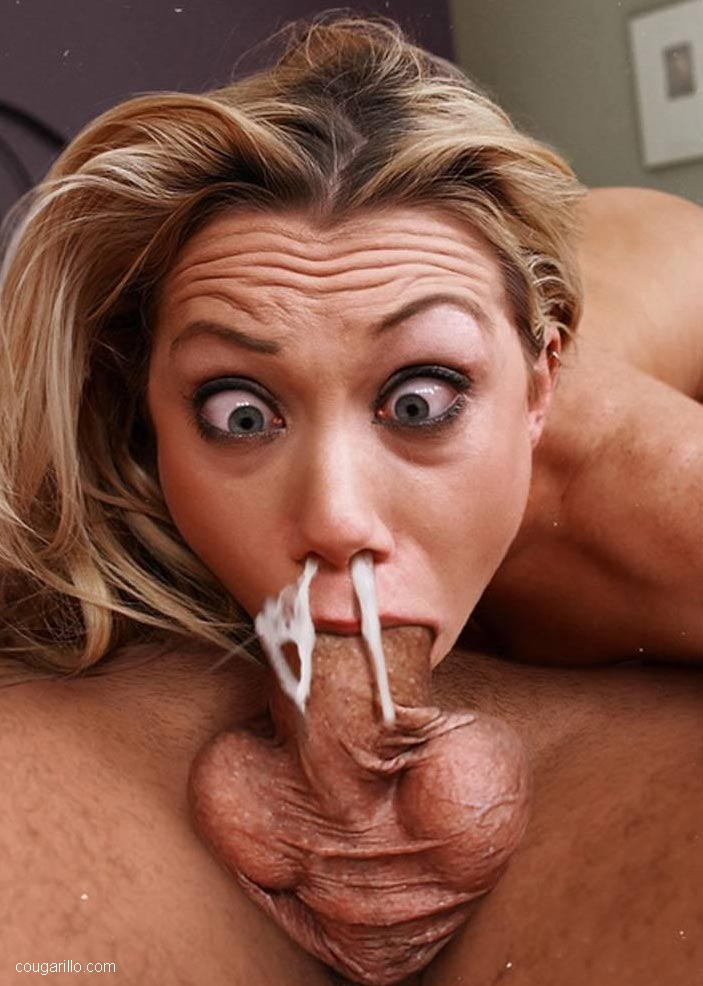 The oral cream pie MILF has such