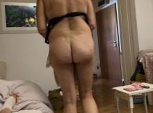 Mon cul, sans culotte à la webcam