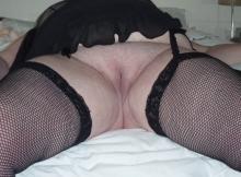Femme grosse en porte-jarretelle - Vieille salope