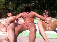 Exhibition couple naturiste