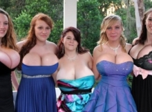 Belle brochette de gros seins - Sexe insolite