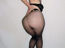 Montre son cul en collants - Femme retraitée coquine