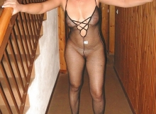 Combinaison sexy transparente - Femme libertine