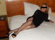 Robe noire et collants - Cougar Paris