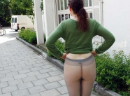 Mes fesses en collants gris - Exhib Paris
