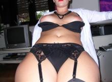 Culotte et porte-jarretelle - Secrétaire sexy