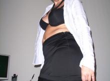 Jupe et bas nylon - Secrétaire sexy
