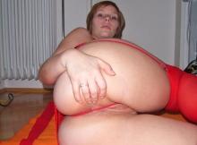 Écarte les fesses - Lingerie rouge