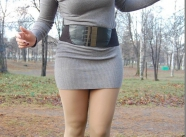 Robe moulante et botte - Tenue sexy