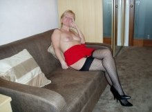 Assise en bas nylon - Femme mature