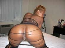 Exhib belles fesses rebondies - Black sexy