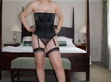 Bas nylon et bustier - Femme sexy