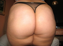 String dans grosses fesses - Femme ronde