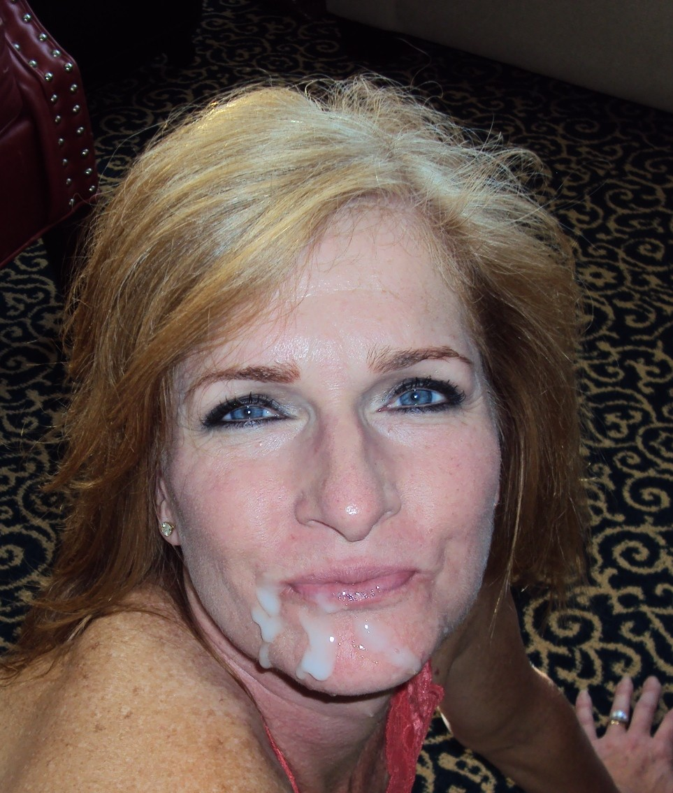 Tits cum on cougars faces ice