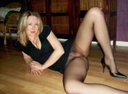 Collants sans culotte - Femme nue