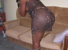 Libertine black en robe ajourée et string