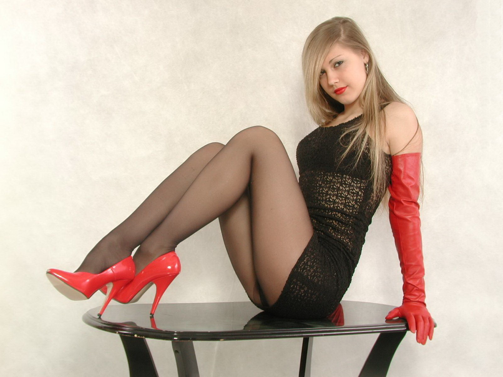 image Russian model in nylons long movie