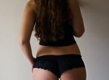 Belles paire de fesses en shorty coquin