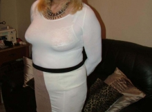 Top coquine en robe moulante