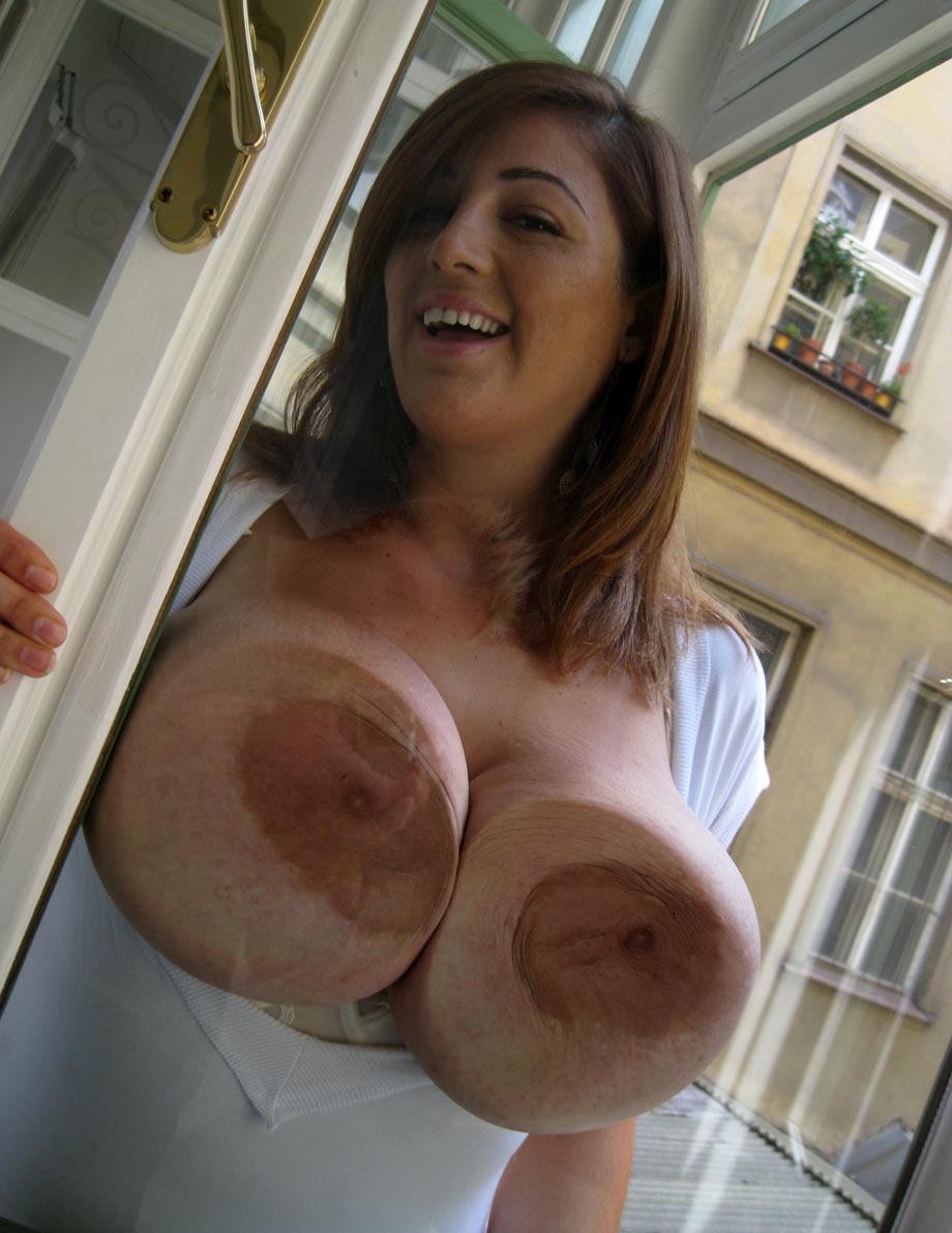 large brown tits