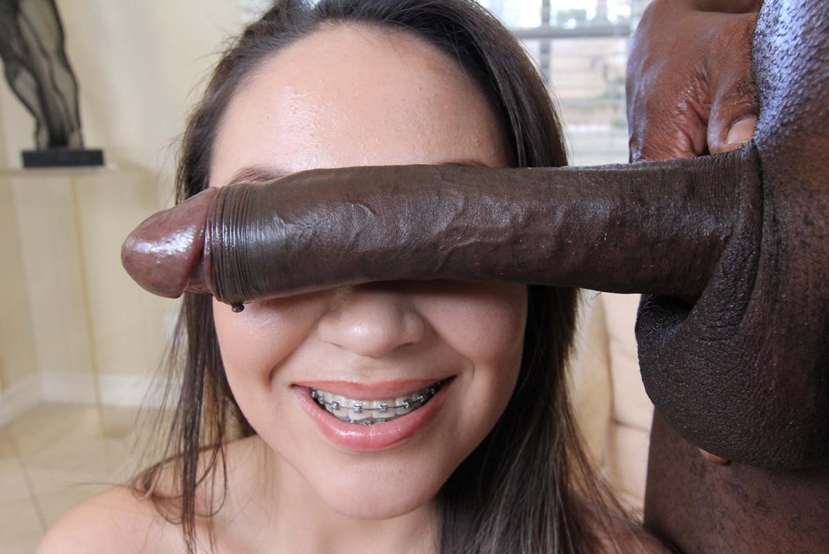 Gorgeous Blonde Gets A Face Full Of Black Man Cum