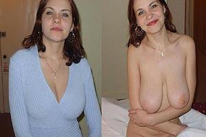 Femmes nues et habillées