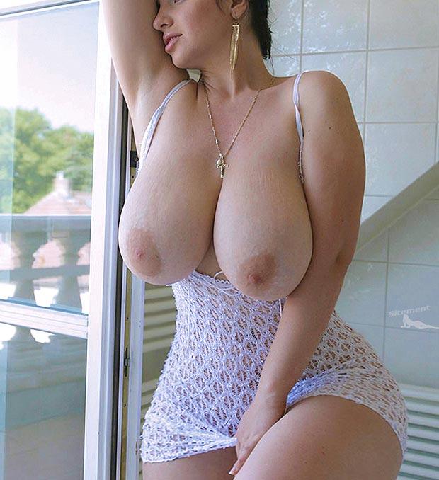 Cougar à poitrine énorme