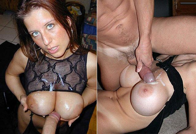 Éjaculation sur les seins