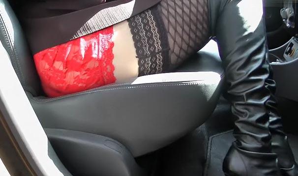 Cougar sexy : bas nylon et bottes