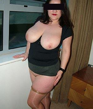 Femme en maque de sexe