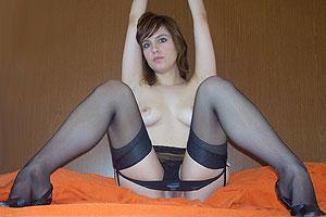 Bas nylon, sans culotte