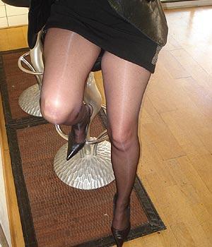 Belles jambes sexy en collants