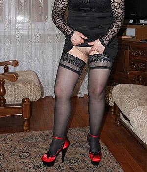 Femme chaude en tenue sexy