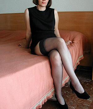 Femme sexy en bas nylon