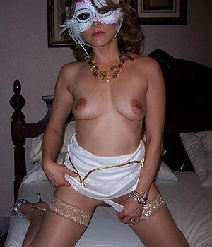 Femme libertine sexy et masquée