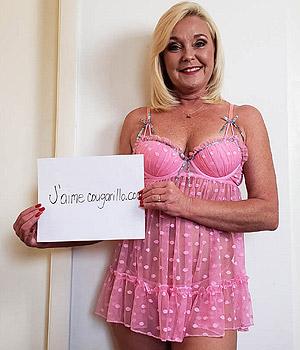 Femme Cougar de Paris s'exhibe sur Cougarillo.com